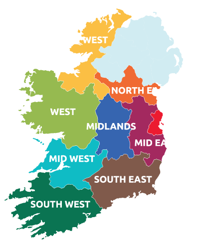 Map Of North And South Ireland.Home Regional Skills