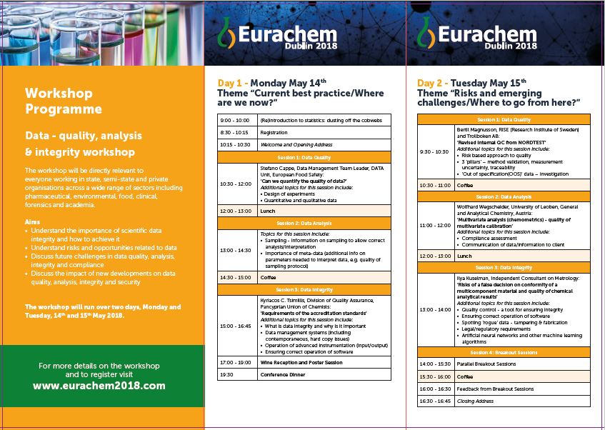 Eurachem workshop outlined