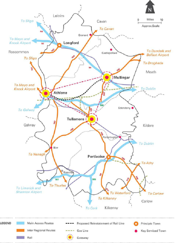 Map Of Midlands Region