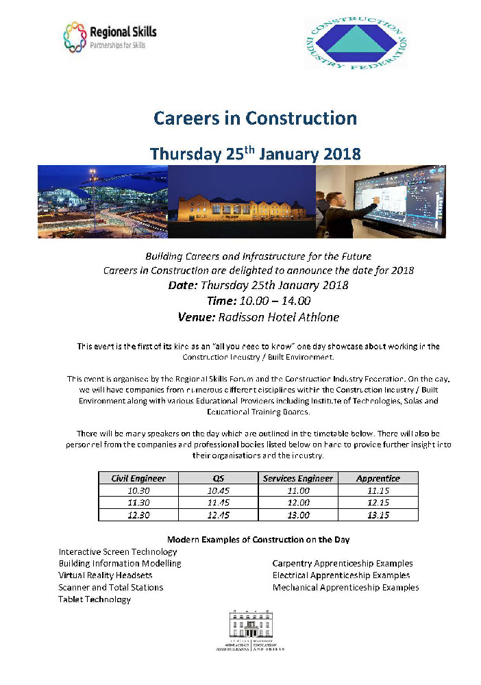 Careers in Construction Invite - Third Level Institutes